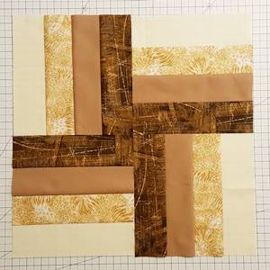 Rail Fence Quilt Block Step 4a