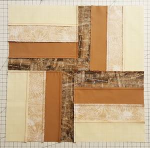 Backside of Rail Fence Quilt Block