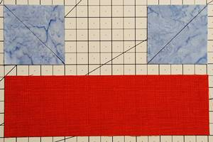 sailboat quilt block Step 2a