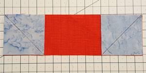 sailboat quilt block Step 2b