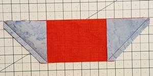 sailboat quilt block Step 2c