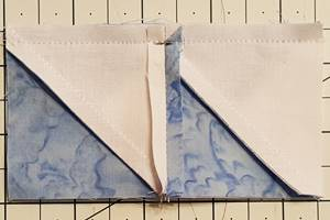 sailboat quilt block pattern Step 4b