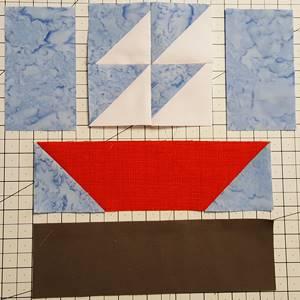 sailboat quilt block pattern Step 4d