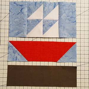 sailboat quilt block pattern Step 5