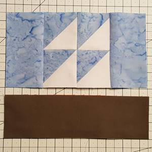 sailboat quilt block pattern Step 6a