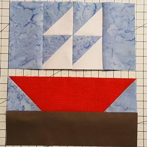 sailboat quilt block pattern Step 6b