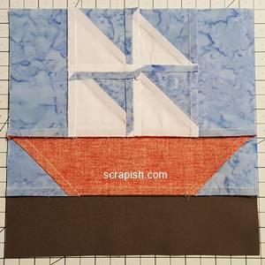 backside of maple leaf quilt block pattern Step 8