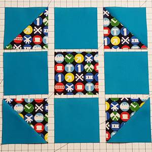 shoo fly quilt block pattern Step 3