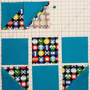 shoo fly quilt block pattern Step 4b
