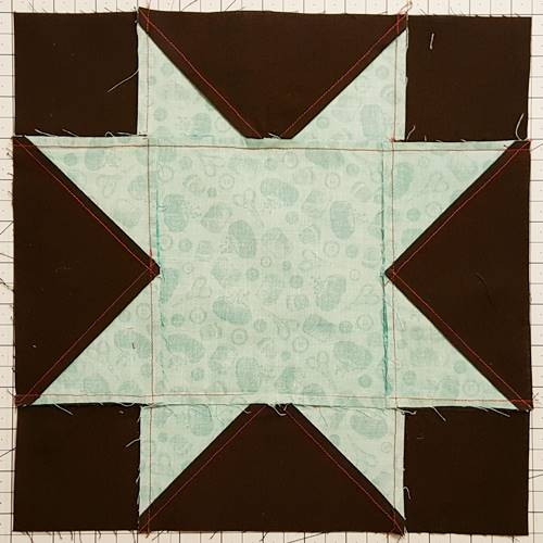 backside of star quilt block pattern