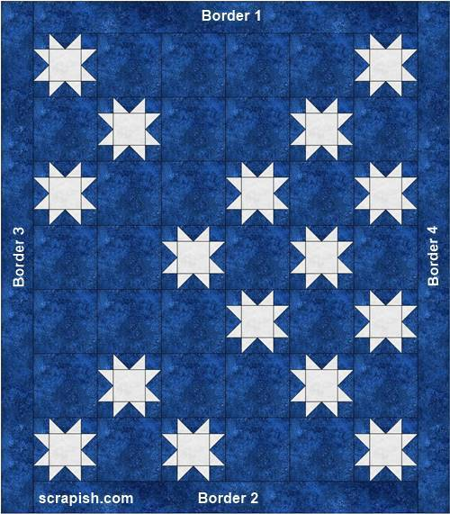 A Quilt idea for Scrappy Star blocks