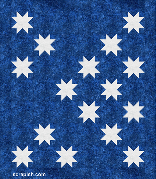 Easy Star Quilt Pattern Eight Point Star Block Sawtooth Star