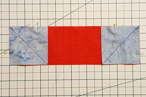 Four Patch Quilt Block Step 2