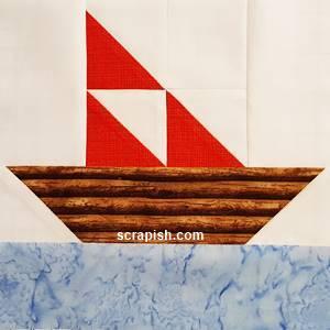 Underground Railroad sailboat quilt block pattern