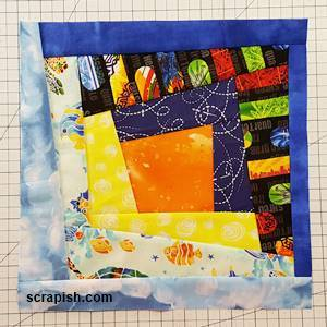 wonky log cabin quilt block