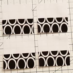 churn dash quilt block pattern Step 2b