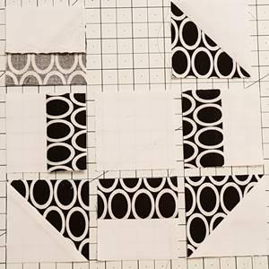 churn dash quilt block pattern Step 5a
