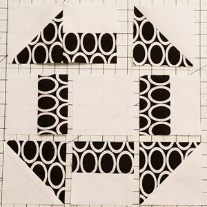 churn dash quilt block pattern Step 5b