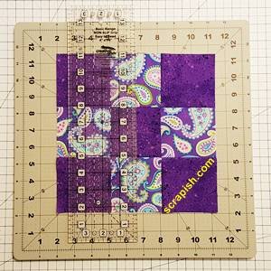Disappearing Nine Patch Quilt Block Step 2
