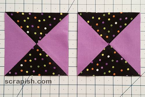 Step 8 Trim any remaining hourglass quilt blocks.