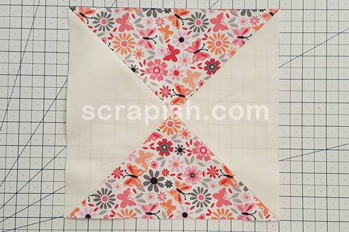 Step 1 Hourglass Quilt Pattern: Make 80 hourglass blocks and trim to 9 inch unfinished.