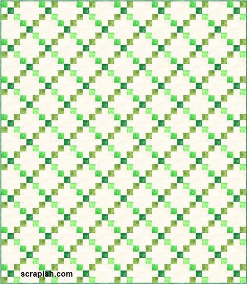 single Irish chain quilt pattern