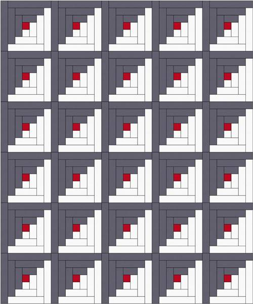 log cabin quilt pattern assembly diagram
