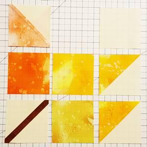 maple leaf quilt block pattern Step 5a