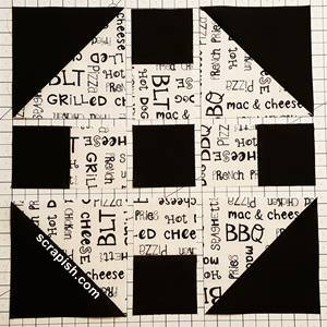 Monkey Wrench Quilt Block Pattern Layout