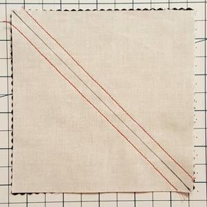 pinwheel quilt pattern Step 2b