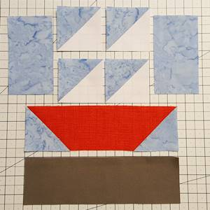 sailboat quilt block pattern Step 3