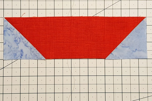 boat shape made with stitch and flip quilting method