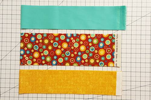 Step 1b Strip quilting: Cut All Strips Required for Strip Set.